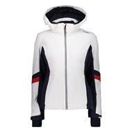 WOMAN JACKET ZIP HOOD BIANCO
